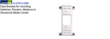 Expansion Mounting Bracket for Structured Wiring Enclosure
