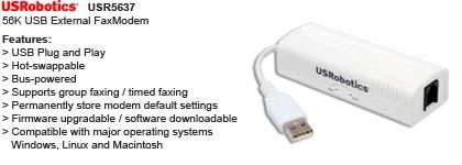 Usb Fax Modem Usrobotics Usr5637