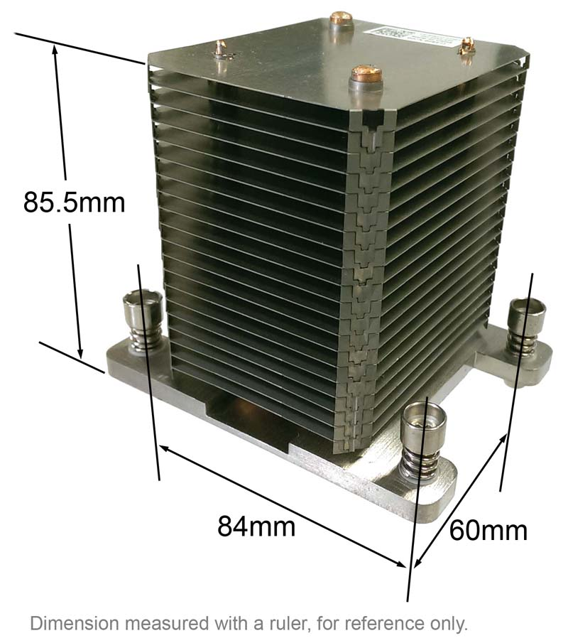 Heatsink for CPU - Socket LGA1366 - Dell CN-0F847J-73307-0BI