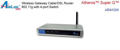 Network Router - Airlink 101 AR410W