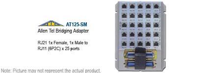 Allen Tel AT125-SM Phone Bridging Adapter Amphenol NEW!