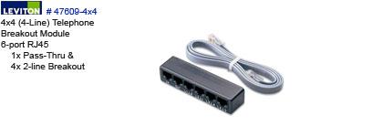 telephone breakout module leviton 47609 4x4. Black Bedroom Furniture Sets. Home Design Ideas