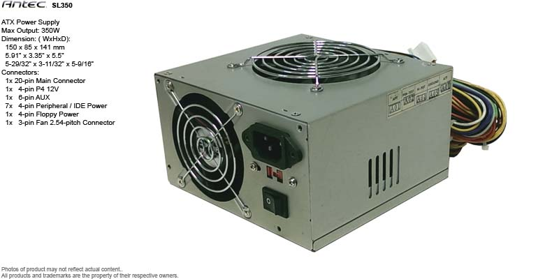 ATX Power Supply - Antec SL350