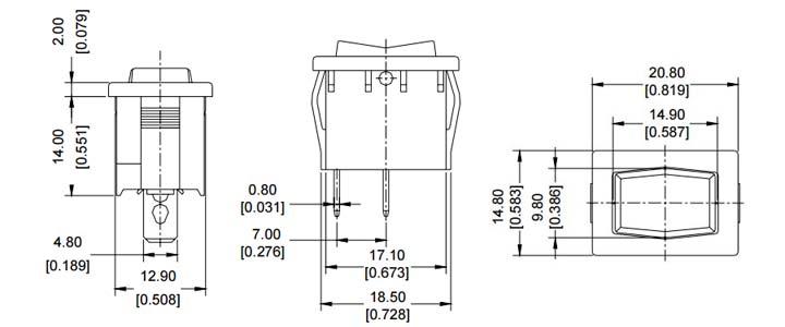Power Switch - Rocker - Light Country R19A-2