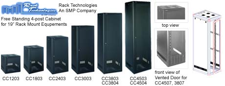 Free Standing 4 Post Cabinet For 19 Inch Rack Mount Equipments Rack  Technologies   An SMP Company