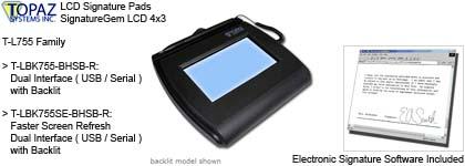 Drawing Tablet - Topaz LCD Signature Pad SignatureGem LCD