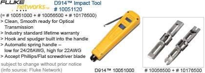 Fluke Networks 10051120 D914 Series Impact Punch Down Tool with EverSharp 110 /& EverSharp 66 Blade