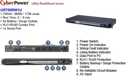 UPS-CP-UR-700R - CyberPower UPS Battery Backup Systems